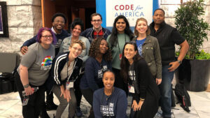 Group photo of the 2019 Code for America Community Fellows