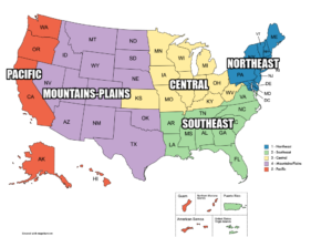 NAC Region MAP